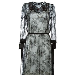 Marc Jacobs embellished lace dress with silk slip